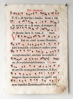 18世紀の交唱聖歌楽譜 各頁